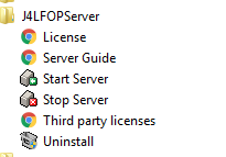J4L FOP Server Screen shot