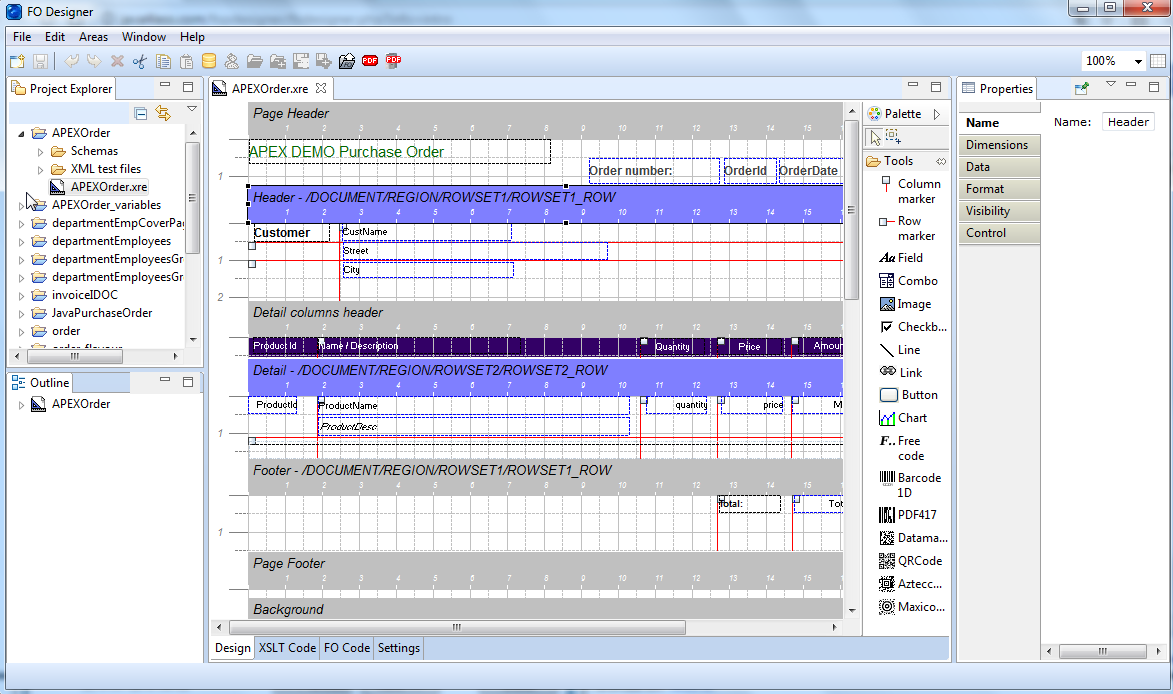 Click to view J4L FO Designer 2.10 screenshot