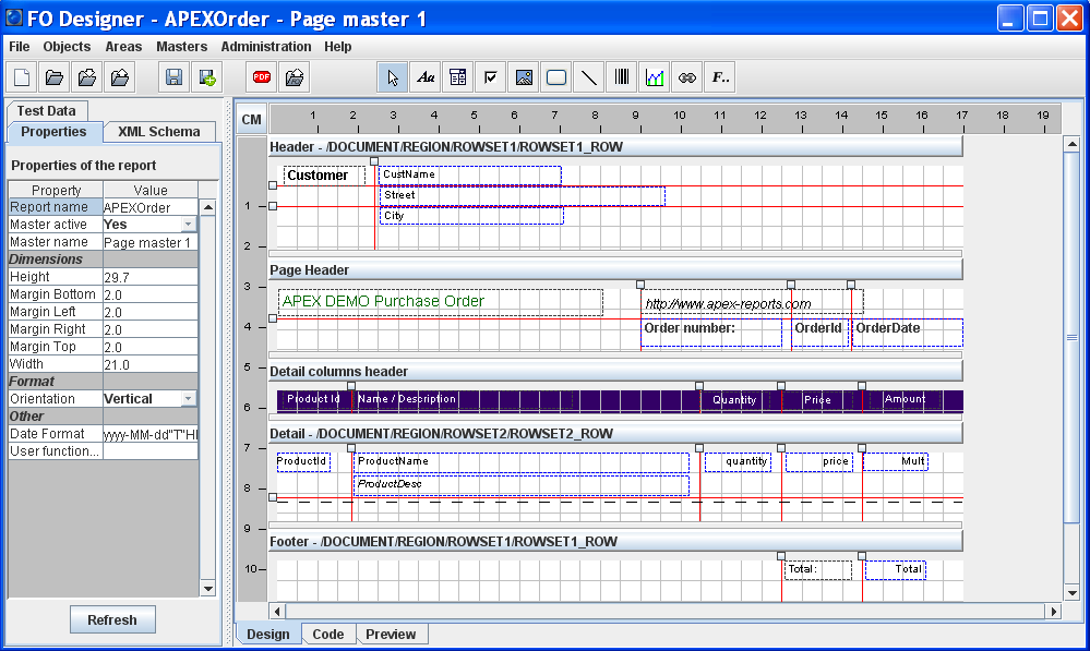 Click to view J4L FO Designer 1.6.3 screenshot