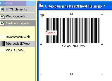 Screenshot of J4L-RBarcode for .NET